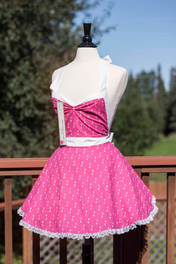 Hot Pink Arrow Pin-up Apron