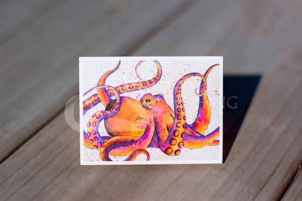 Pulpo puesta de sol octopus magnets