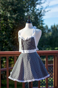 Black Moroccan Pin-up Apron