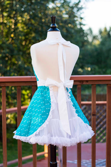 Teal Arrow Pin-up Apron