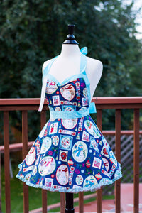 Holiday Snowman Pin-up Apron