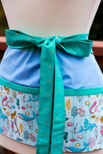 Mermaids and Friends Half-Apron