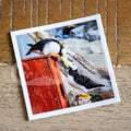 """Kissing Puffins"" puffin stickers"