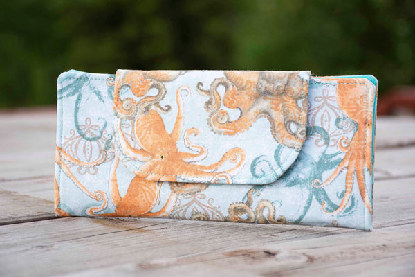 Boho Coastal Octopus Wallet