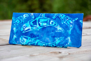 Batik Tribal Orca Whale Wallet