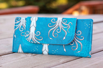 Deep Under the Sea Squid (Teal) Wallet