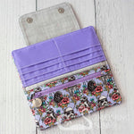 Floral Wars Wallet - Lilac