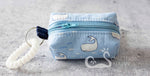 """Maritime Whales"" Cash & Carry Micro Bag - Blue"