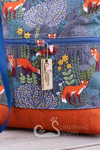 Fox Forest Drawstring Backpack