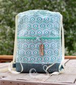 Mint Bouquet Drawstring Backpack
