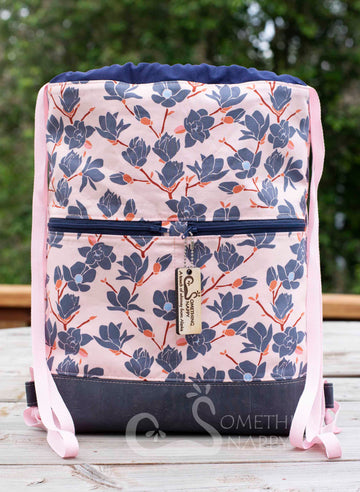 Magnolia in Sunset Drawstring Backpack