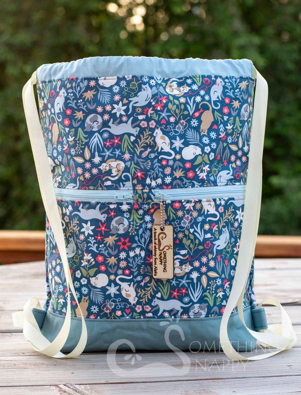 Catnip Garden Drawstring Backpack