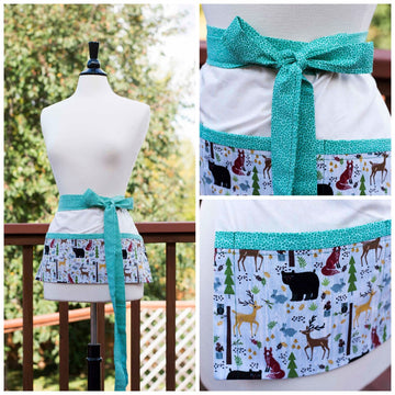 Forest Critters Half-Apron