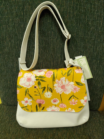 Carnation Bloom Messenger Purse