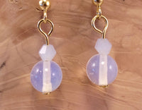 Opalite and Swarovski Crystal Earrings