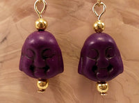 Purple Howlite Buddha Earrings