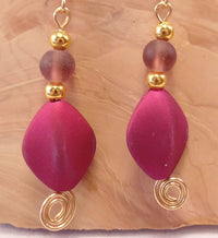 Magenta Mermaid Earrings