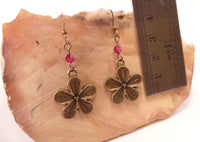 Hibiscus Flower Earrings
