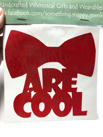 Doctor Who Bowties are Cool Vinyl Decal
