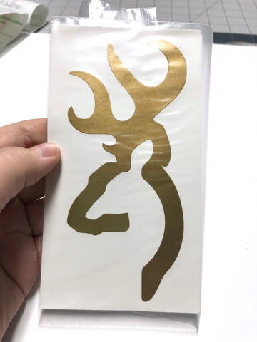 Gold Browning Vinyl Decal