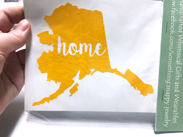 Alaska home Vinyl Decal