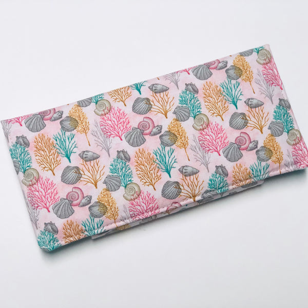 Seashells by the sea shore wallet
