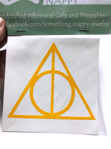 Harry Potter Deathly Hallows Vinyl Decal