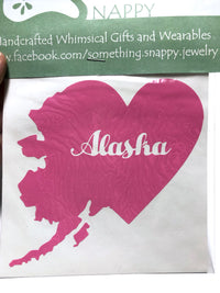 Light pink Alaska heart Vinyl Decal