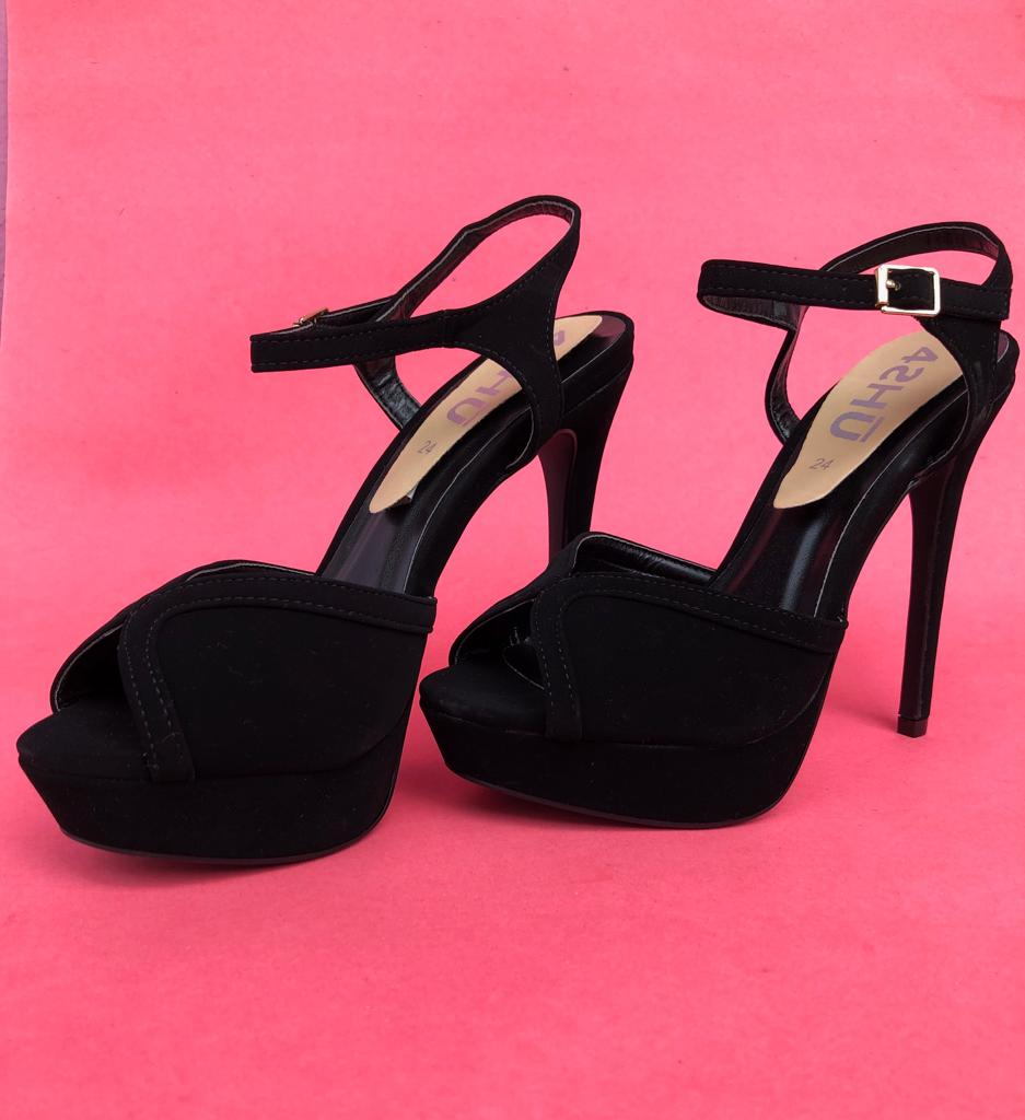 Black Avalon Heels