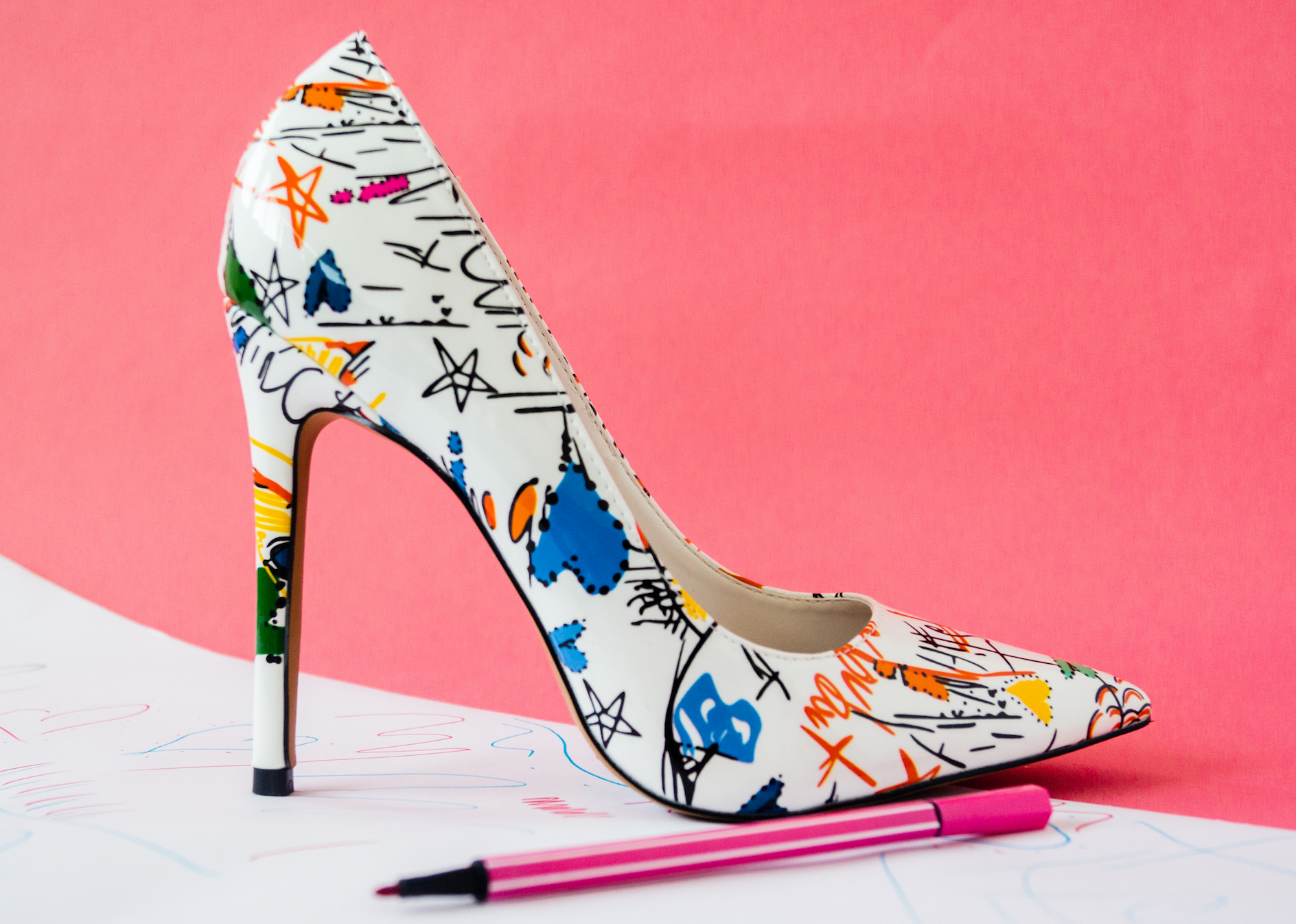 Graffiti Flight Stilettos