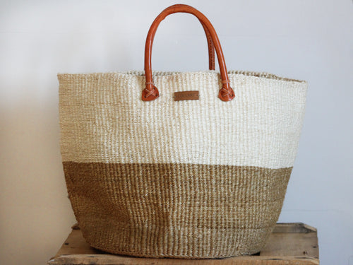 SISAL SHOPPER BAG XL - SAND