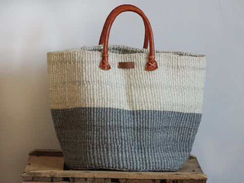 SISAL SHOPPER BAG XL - GREY