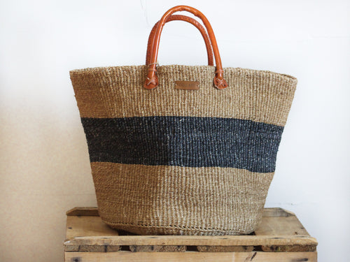 SISAL SHOPPER BAG XL - MARINE