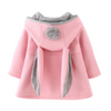 Baby Girls Coat Jacket Rabbit Ear Hoodie Sweatshirt Outerwear