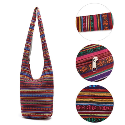 Cotton Print Hippie Sling Shoulder Bag Cross Body Hobo Lady Bag