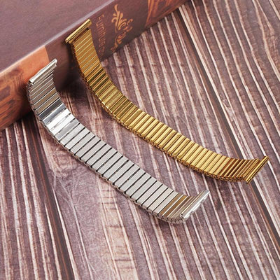 Metal Expansion Stainless Steel Stretch Replacement Watch Band 12-20mm