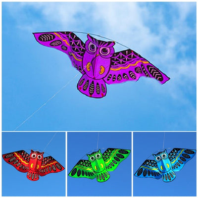 Funny Outdoor Sport 3D Owl Kites Toy With Tail Fun Outdoor Kite