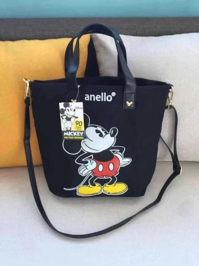 Disney Mickey Mouse Canvas Crossbody Shoulder Bag Large Capacity Bag