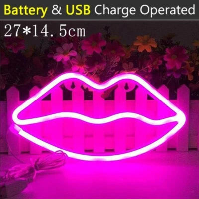 Cute LED Neon Sign Night Light Wall Home Decor