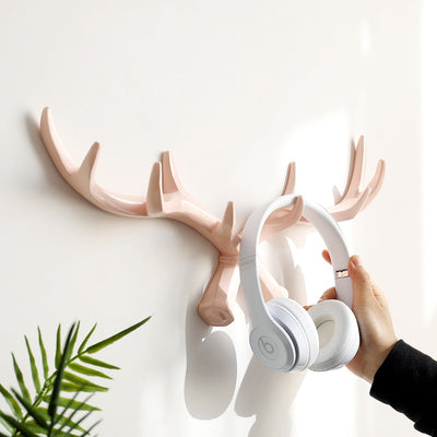 Resin Wall Decor Nordic Style Deer Antler Hook Home Decorative