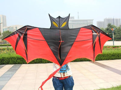 High quality Red Bat Kite With Handle And Line Outdoor Flying Toy