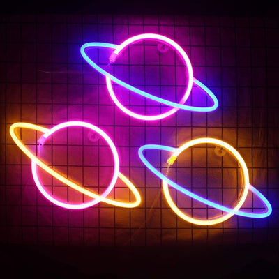 Planet Neon Signs Led Neon Wall Sign Hanging Night Lamp