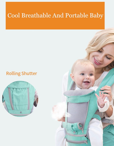 Ergonomic Baby Carrier Hipseat Sling Front Facing Baby Wrap Carrier