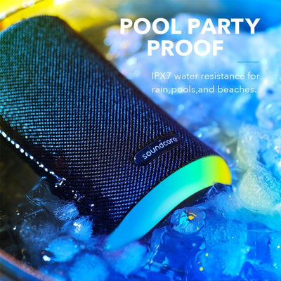 IPX7 Mini Bluetooth Speaker Waterproof LED Light 360° SoundTechnology