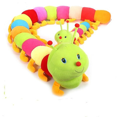 100cm. Colorful Long Caterpillar Plush Toys Stuffed Animals Dolls Toys