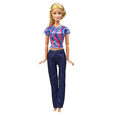 5 Sets/Lot Cute Doll Casual Wear Blouse Shirt Outfit For Barbie Doll