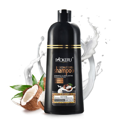 Mokeru Natural Organic Coconut Oil Permanent Hair Color Shampoo 500ml.