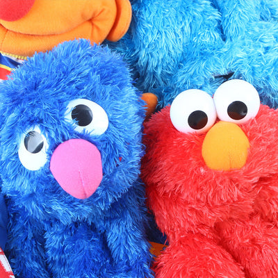 Sesame Street Cartoon Soft Plush Doll Hand Puppet 35cm.