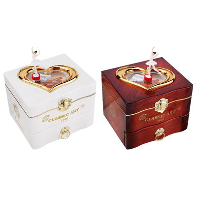 Classic Rotating Dancer Ballerina Piano Clockwork Jewelry Music Boxes