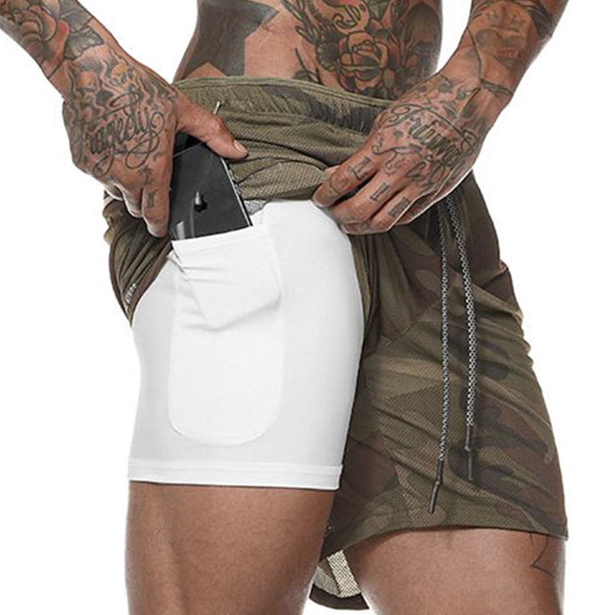 2 in 1 Safe Pocket Zomer Mesh Shorts